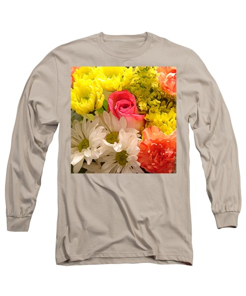 Bright Spring Flowers Long Sleeve T-Shirt