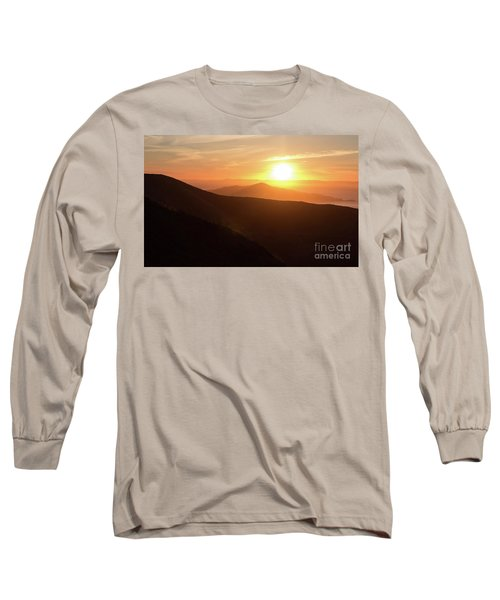 Bright Sun Rising Over The Mountains Long Sleeve T-Shirt