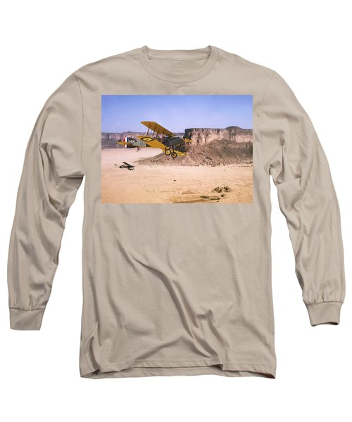 Long Sleeve T-Shirt featuring the photograph Bristol Fighter - Aden Protectorate  by Pat Speirs
