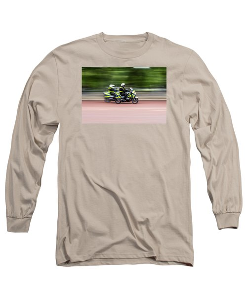 British Police Motorcycle Long Sleeve T-Shirt