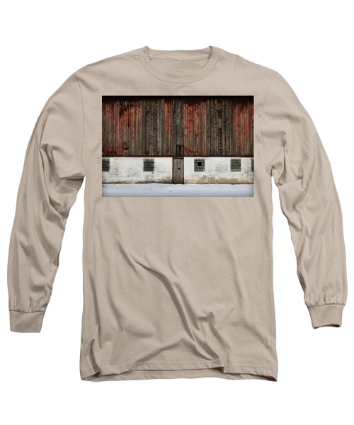 Broad Side Of A Barn Long Sleeve T-Shirt by Julie Hamilton