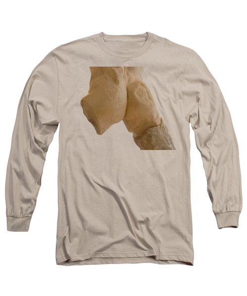 Broken Naked Greek Male Statue From Back Long Sleeve T-Shirt