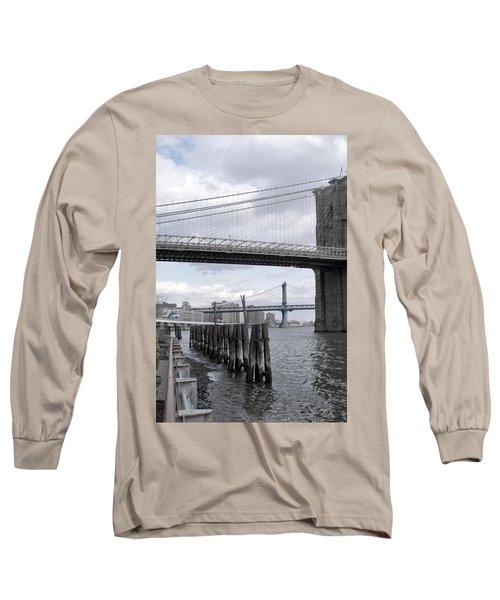 Brooklyn Bridge II Long Sleeve T-Shirt by Henri Irizarri