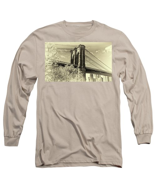 Brooklyn Bridge Long Sleeve T-Shirt by John Hoey