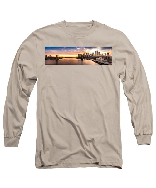 Brooklyn Bridge Panorama Long Sleeve T-Shirt
