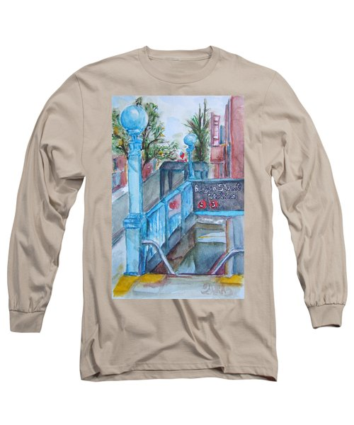 Brooklyn Subway Stop Long Sleeve T-Shirt