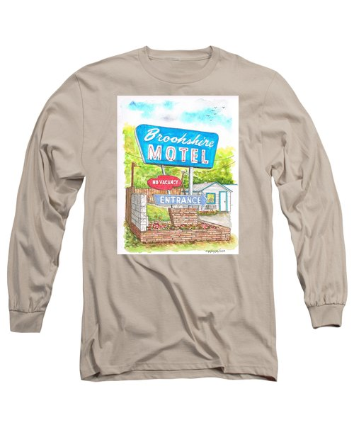 Brookshire Motel In Route 66, Tulsa, Oklahoma Long Sleeve T-Shirt by Carlos G Groppa