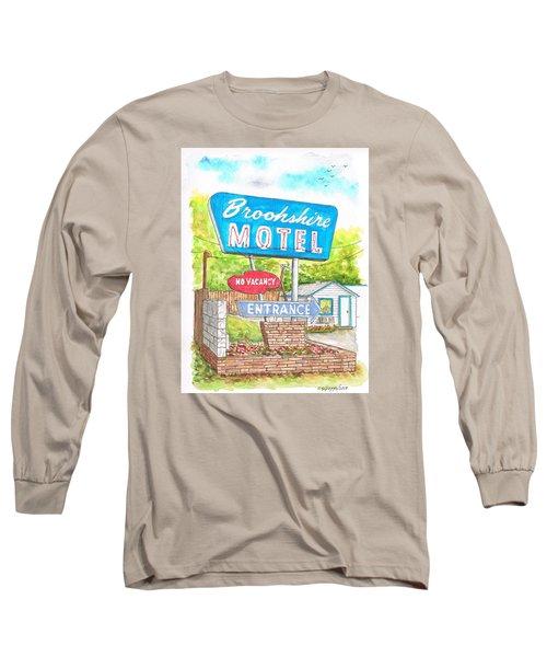 Brookshire Motel In Route 66, Tulsa, Oklahoma Long Sleeve T-Shirt