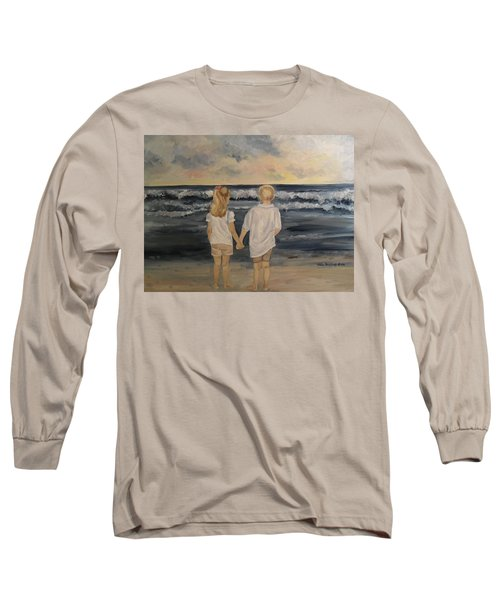 Long Sleeve T-Shirt featuring the painting Brother And Sister by Julie Brugh Riffey