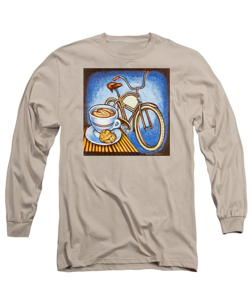 Brown Electra Delivery Bicycle Coffee And Amaretti Long Sleeve T-Shirt by Mark Jones