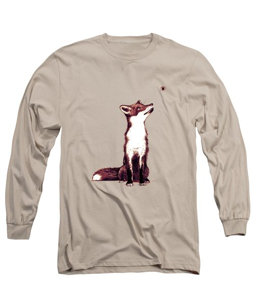Brown Fox Looks At Thing Long Sleeve T-Shirt