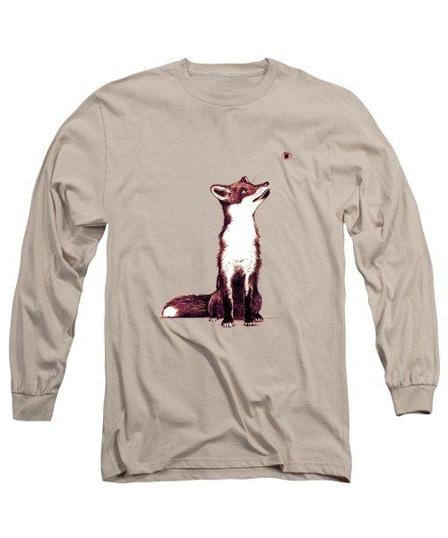 Brown Fox Looks At Thing Long Sleeve T-Shirt