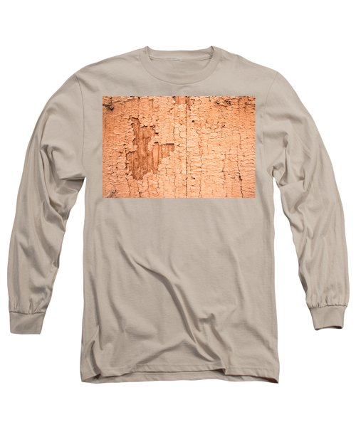 Brown Paint Texture Long Sleeve T-Shirt by John Williams