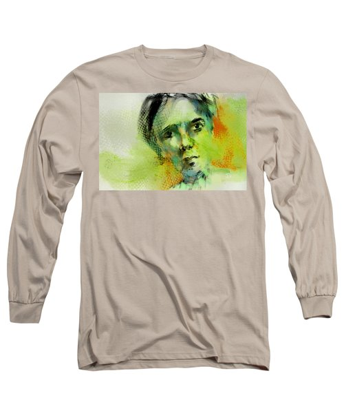 Long Sleeve T-Shirt featuring the painting Bryant by Jim Vance
