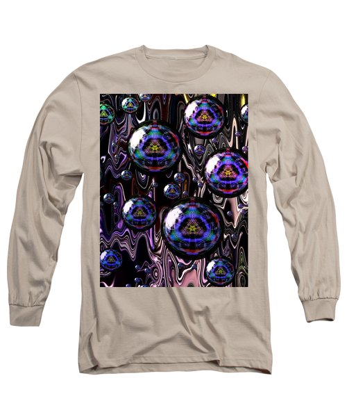 Bubble Abstract 1a Long Sleeve T-Shirt