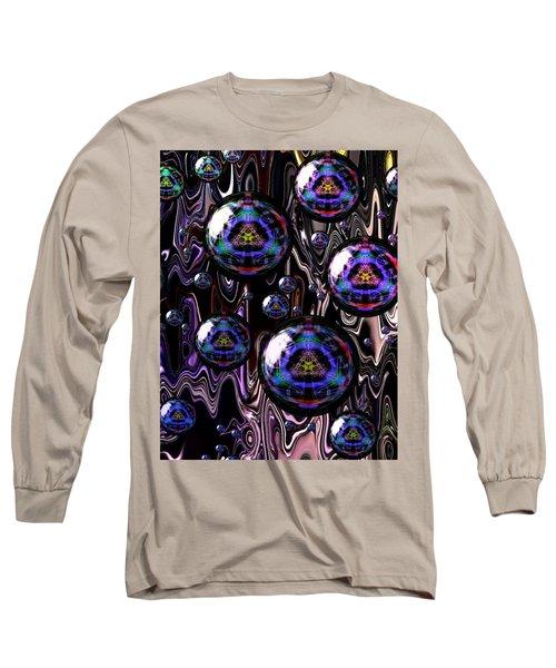 Bubble Abstract 1a Long Sleeve T-Shirt