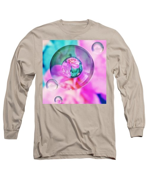 Bubble Roses Long Sleeve T-Shirt by Anna Porter