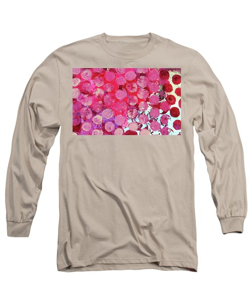 Long Sleeve T-Shirt featuring the mixed media Bubbles by Mary Ellen Frazee