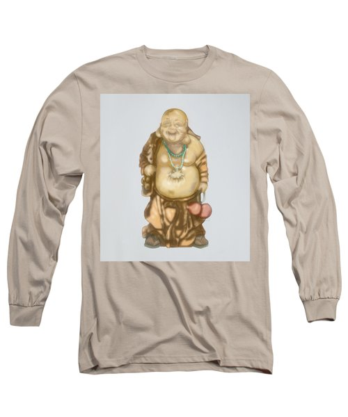 Long Sleeve T-Shirt featuring the mixed media Buddha by TortureLord Art