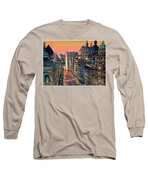 Buenos Aires Twilight Long Sleeve T-Shirt