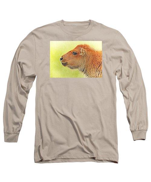 Buffalo Calf Two Long Sleeve T-Shirt by Suzanne Handel