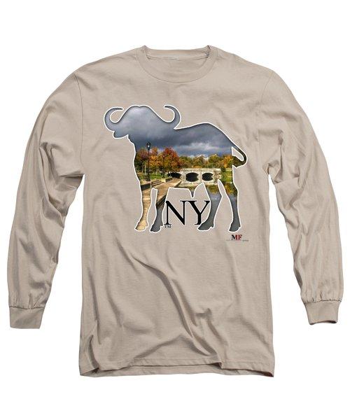 Buffalo Ny Hoyt Lake Long Sleeve T-Shirt by Michael Frank Jr