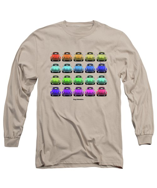 Bug Infestation. Long Sleeve T-Shirt by Mark Rogan