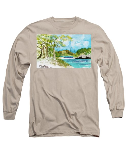 Bugny Trees At Kanumera Bay, Ile Des Pins Long Sleeve T-Shirt