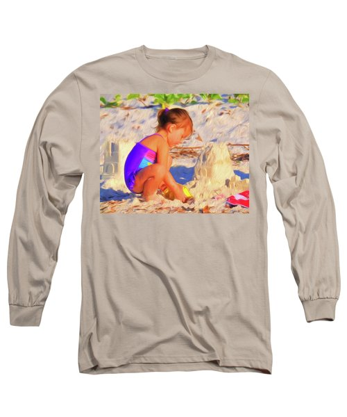 Building Sand Castles Long Sleeve T-Shirt