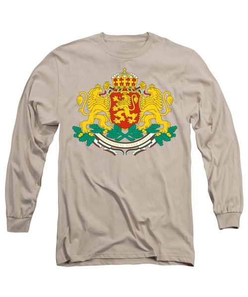 Long Sleeve T-Shirt featuring the drawing Bulgaria Coat Of Arms by Movie Poster Prints