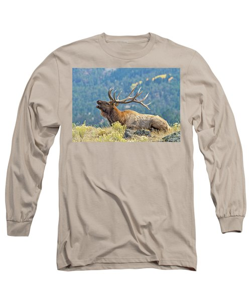 Bull Elk Bugling Long Sleeve T-Shirt