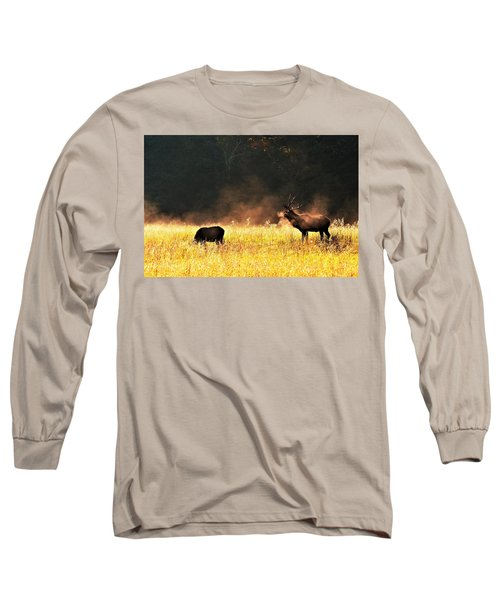 Bull With His Girl Long Sleeve T-Shirt