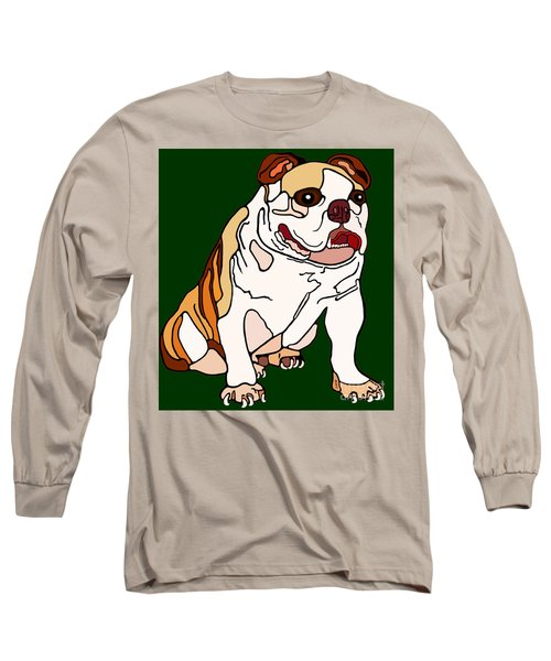 Long Sleeve T-Shirt featuring the painting Bulldog by Marian Cates