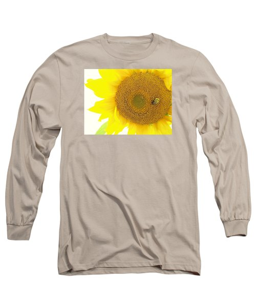 Bumble Bee Sunflower Long Sleeve T-Shirt