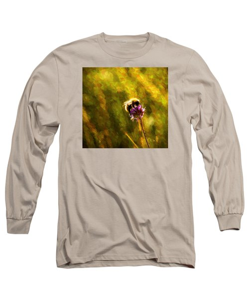 Long Sleeve T-Shirt featuring the photograph Bumblebee  by Rose-Maries Pictures