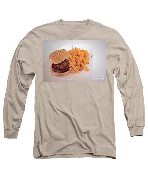 Long Sleeve T-Shirt featuring the photograph Burger And Fries by Anne Rodkin