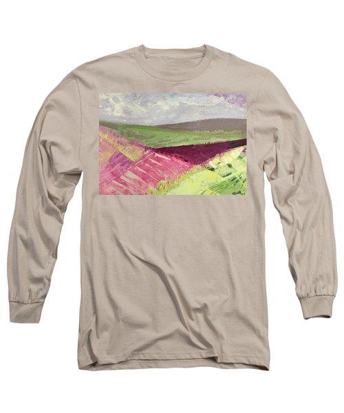 Burgundy Fields Long Sleeve T-Shirt