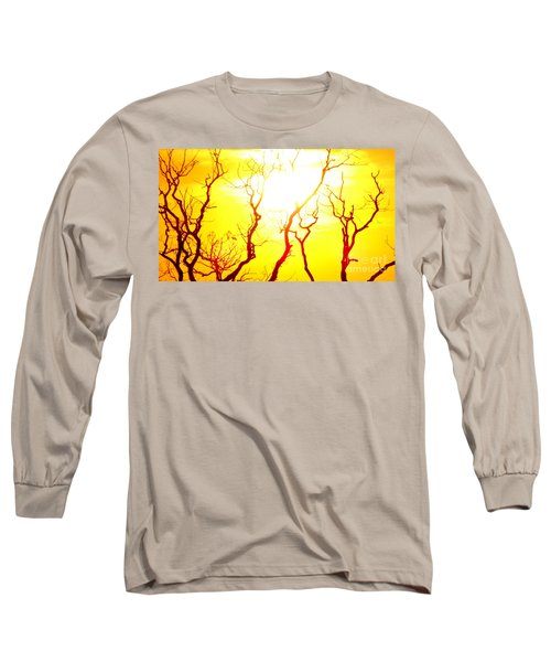 Burning Sunset Long Sleeve T-Shirt by Justin Moore