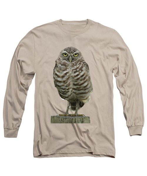 Long Sleeve T-Shirt featuring the photograph Burrowing Owl Lookout by Bradford Martin