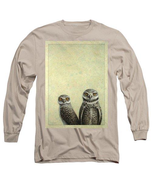 Burrowing Owls Long Sleeve T-Shirt by James W Johnson