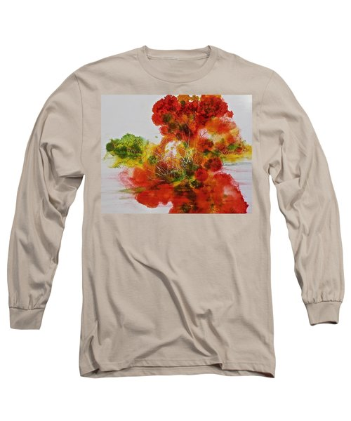 Long Sleeve T-Shirt featuring the painting Burst Of Nature, II by Carolyn Rosenberger