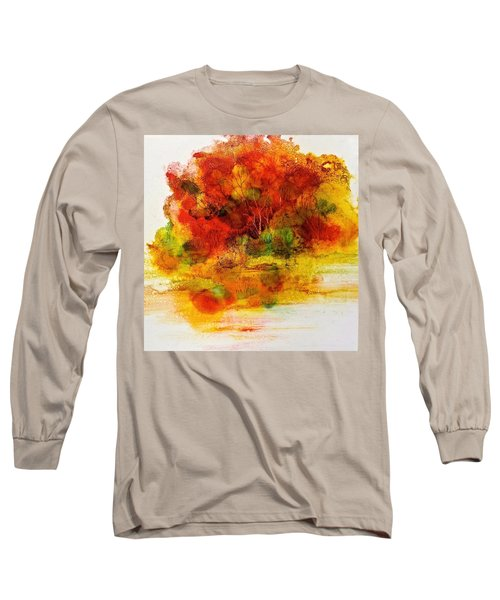 Long Sleeve T-Shirt featuring the painting Burst Of Nature IIi by Carolyn Rosenberger