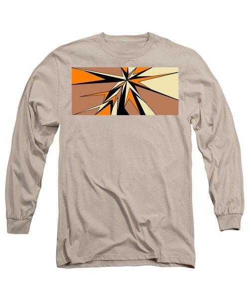 Burst Of Orange 2 Long Sleeve T-Shirt by Linda Velasquez