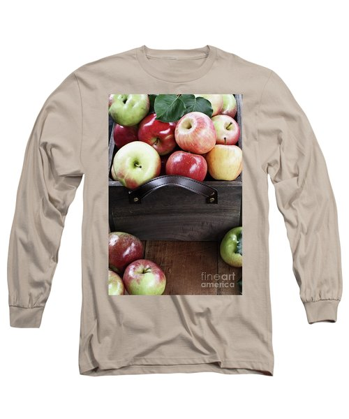 Long Sleeve T-Shirt featuring the photograph Bushel Of Apples  by Stephanie Frey