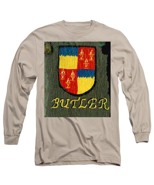 Long Sleeve T-Shirt featuring the painting Butler Family Shield by Barbara McDevitt