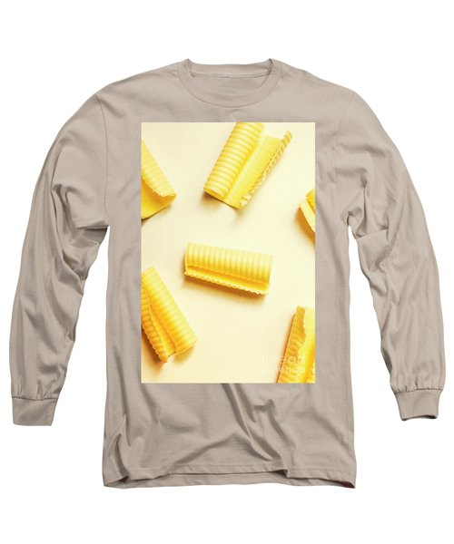 Butter Curls On White Background Long Sleeve T-Shirt