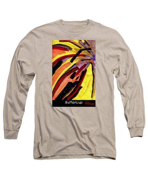 Long Sleeve T-Shirt featuring the painting Buttercup by Clarity Artists