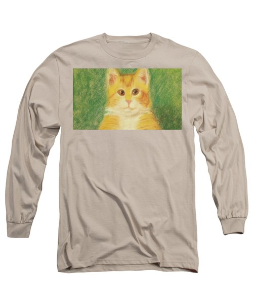 Long Sleeve T-Shirt featuring the drawing Buttercup by Denise Fulmer