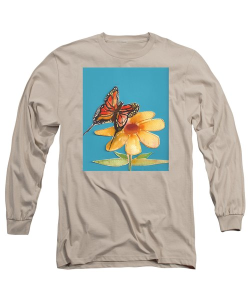 Long Sleeve T-Shirt featuring the painting Butterflower by Denise Fulmer