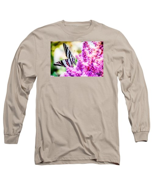 Butterfly Beautiful  Long Sleeve T-Shirt by Peggy Franz